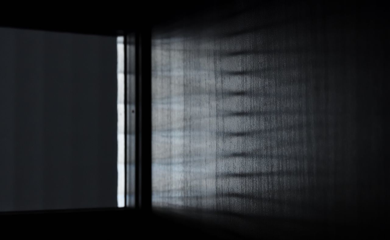 indoors, window, curtain, drapes, dark, shadow, no people, day, close-up