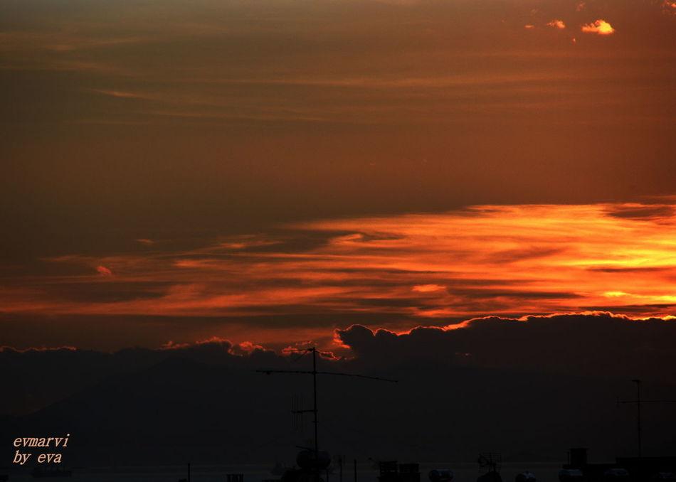 Beautiful Sunset Clouds On Fire