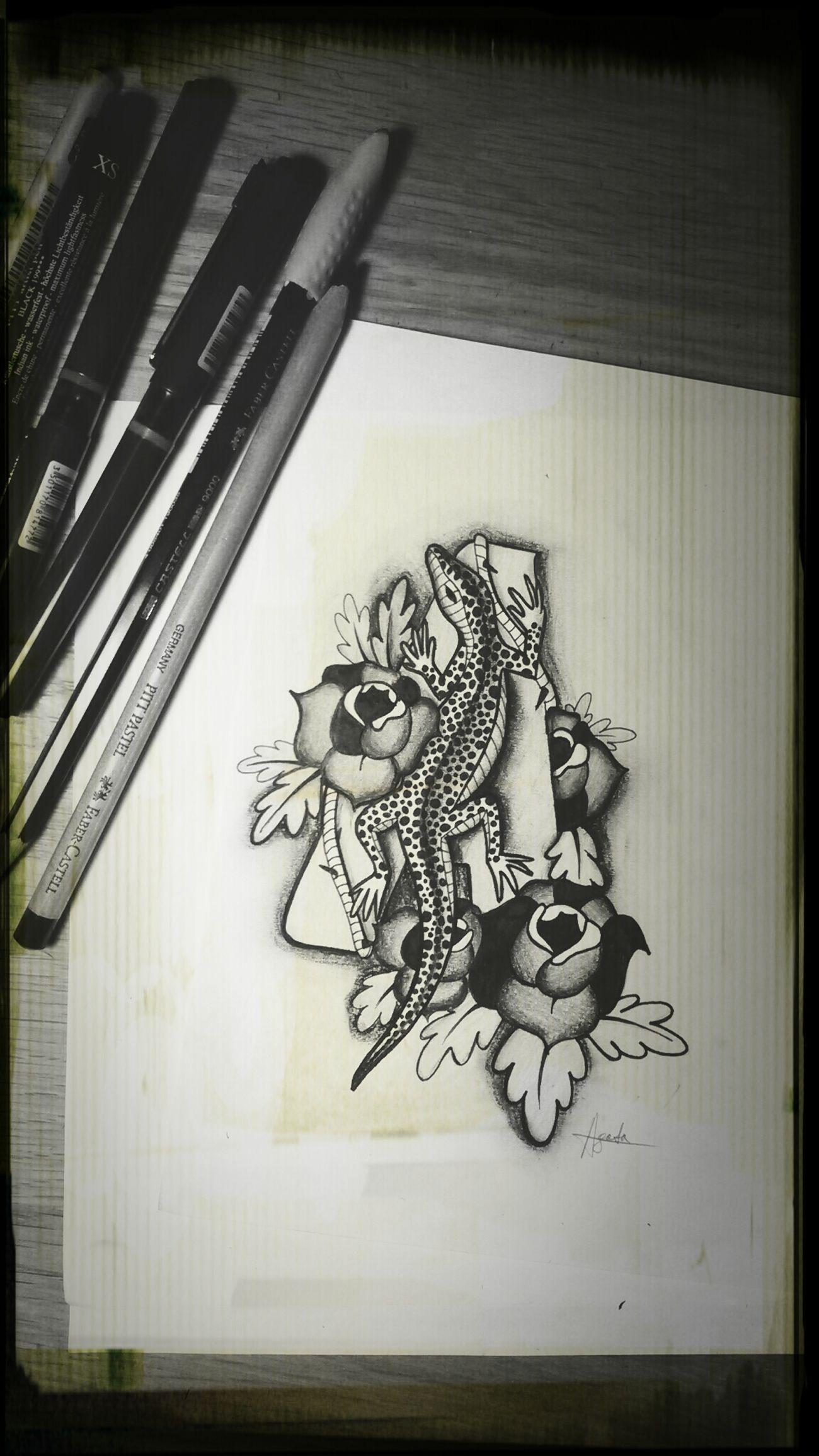 Nli Tattoo Lizard Initial Roses First Eyeem Photo