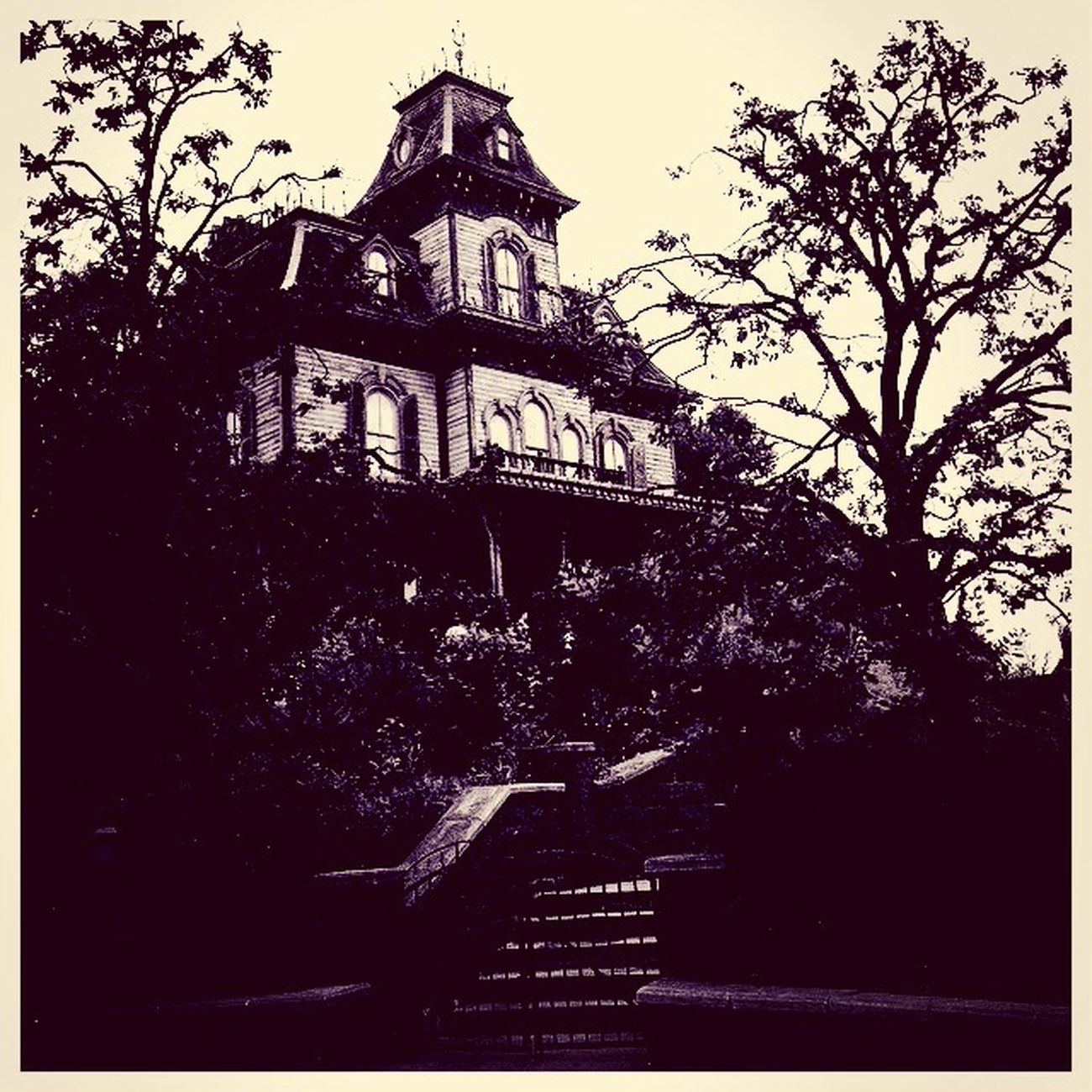 Disneyland Paris Phantom Manor Blackandwhite Hauntedmansion