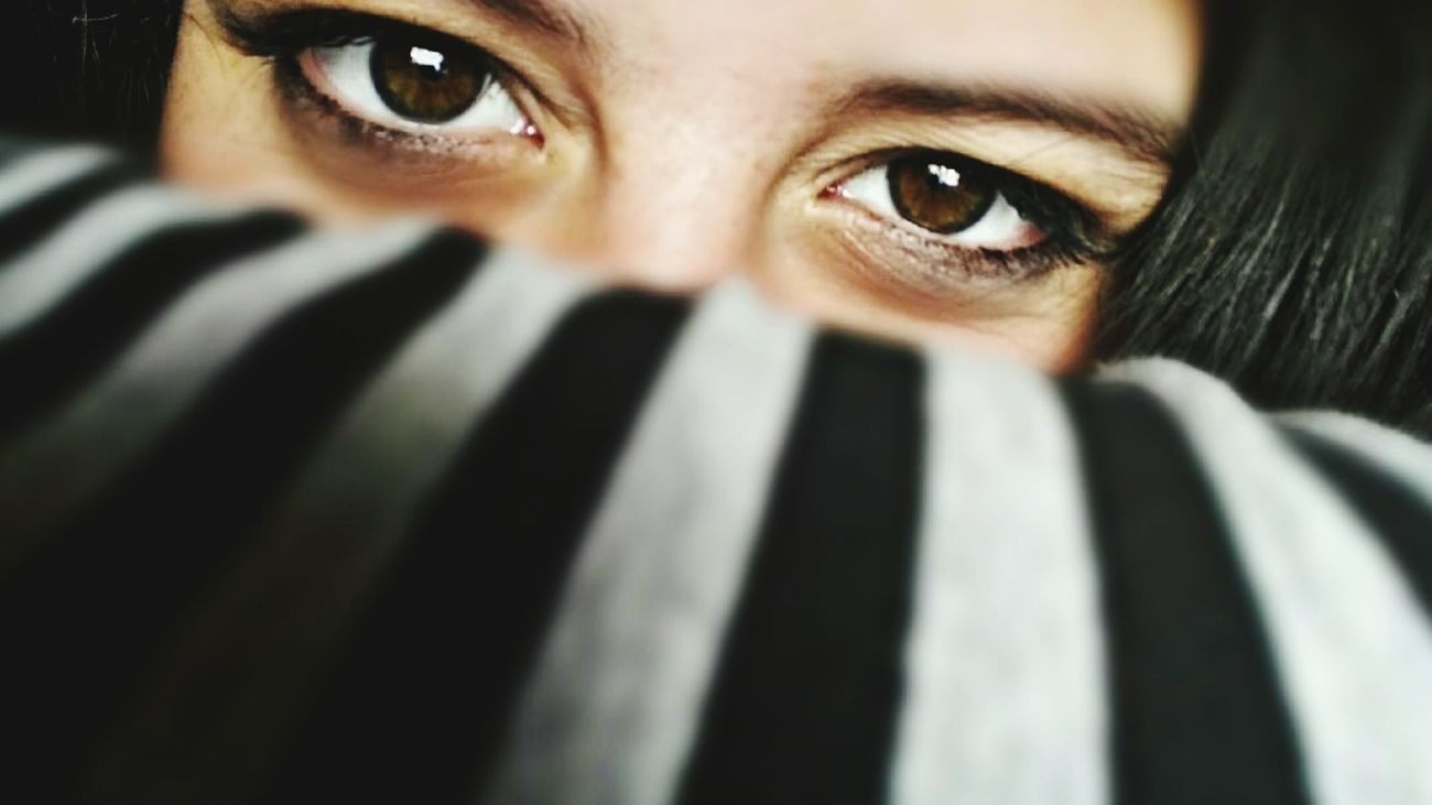 Human Eye Human Body Part Human Face Looking At Camera Peeking One Person Eye Close-up Headshot Portrait Adults Only Dark Adult Spooky Human Hand Women People One Woman Only Only Women Eyeball