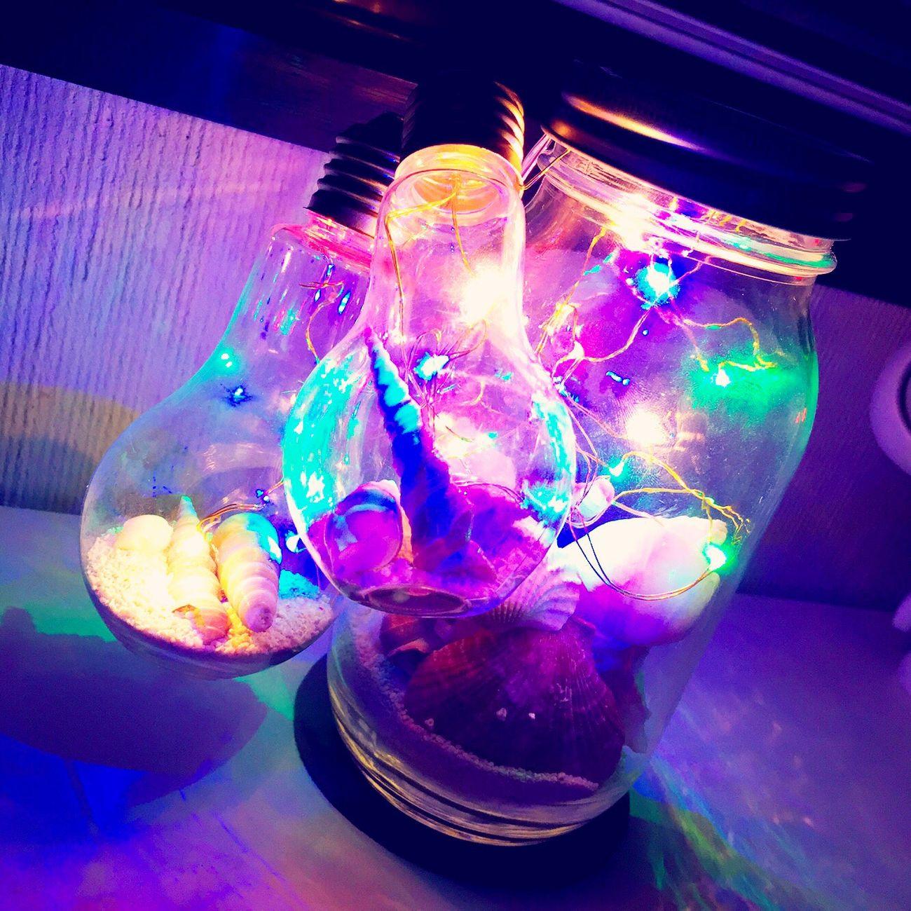 手造りランプ❤️ Summer Enjoying Life 海 Sea ランプ Handmade Lamp Beautiful Shell 上出来 貝殻