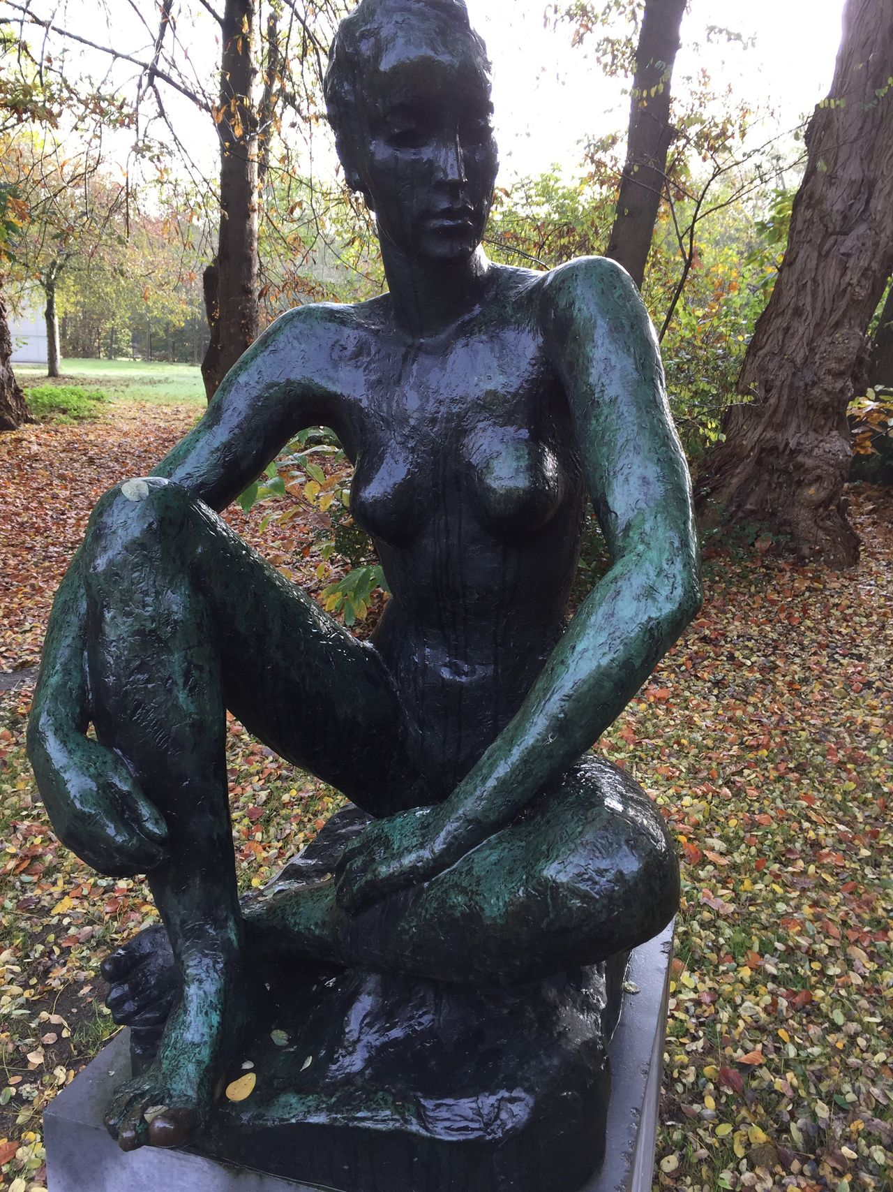 Statue Art And Craft Sculpture Tree Human Representation No People Outdoors Day Nature IPhoneography Iphone 6 Plus Art Statue Artistic ArtWork Black Outdoor Photography Middelheim Museum