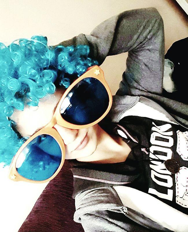 Picture Komik Gozluk Peruk Pic Nice Day Yeniyılheyecanı Blue Mavi
