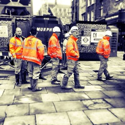 Men at work  at City of London by Ardvark