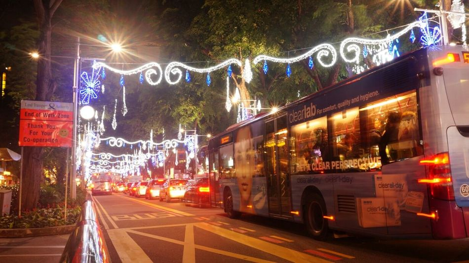 Merry Christmas Orchard Road City Lights Night Lights