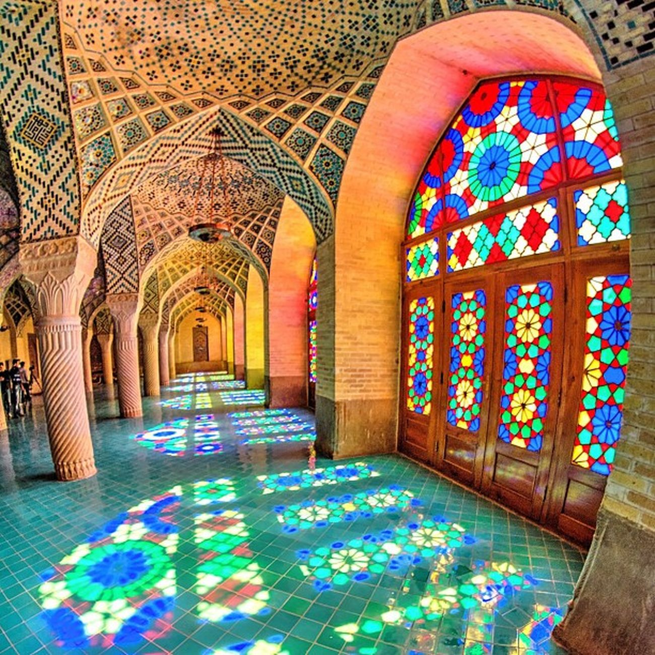 The Mosque of Colors Nasir -al-Molk Mosque. Shīrāz . Iran .