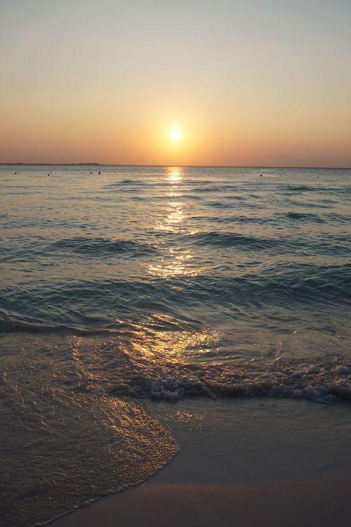 2016 Beach Isla Mujeres Mexico Nature Resort Sand Sea Sky Sun Sunlight Sunset Tourism Vacations Water イスラムヘーレス サンセット メキシコ