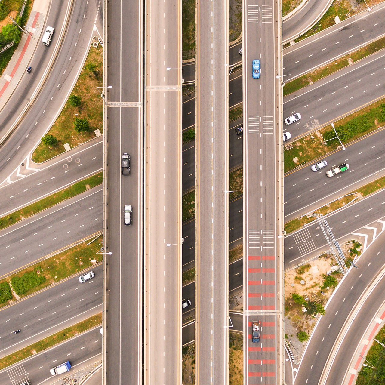 Aerial View Architecture City City Life Cityscape Day Flying High Highway Mode Of Transport No People Outdoors Traffic Transportation Travel