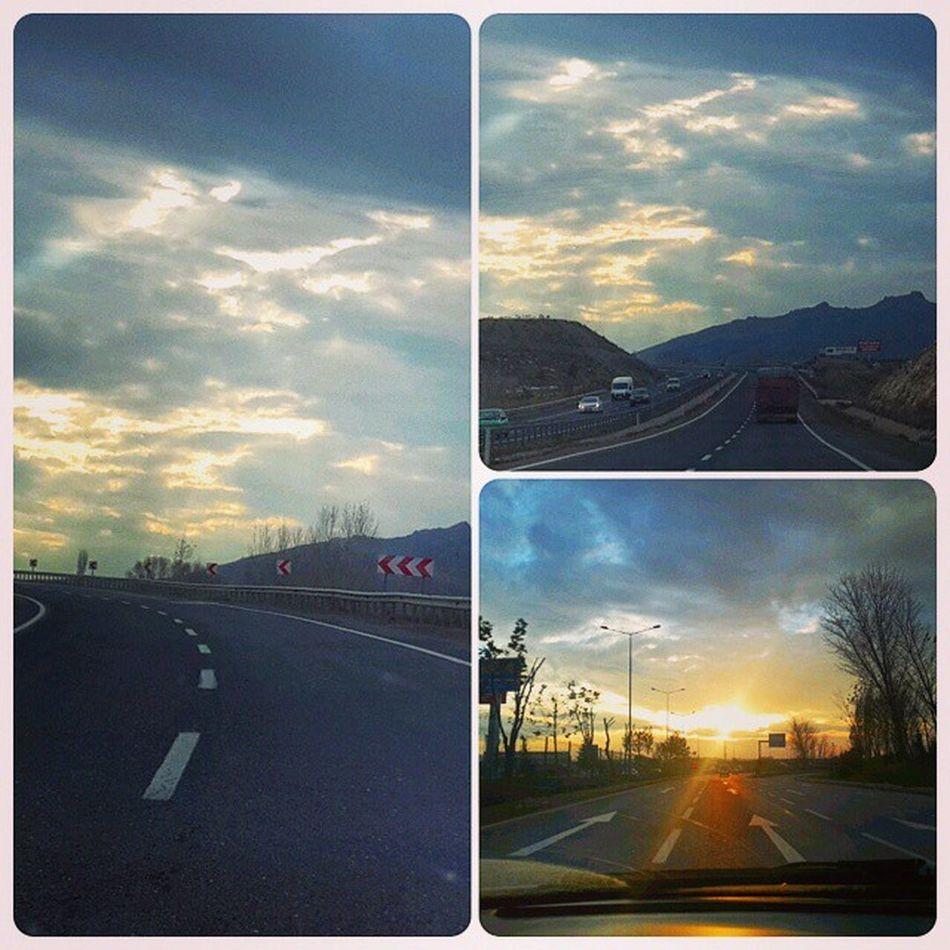 Ankaraeskisehiryolu Uzunyol Yolculuk Bulutlar Karayolu