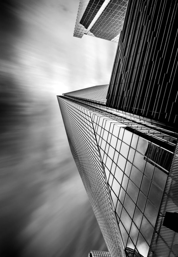 Sky conection Architecture Blackandwhite Building Exterior City Day Fine Art Huntergol Long Exposure Low Angle View Modern Nisi No People Outdoors Sky Skyscraper