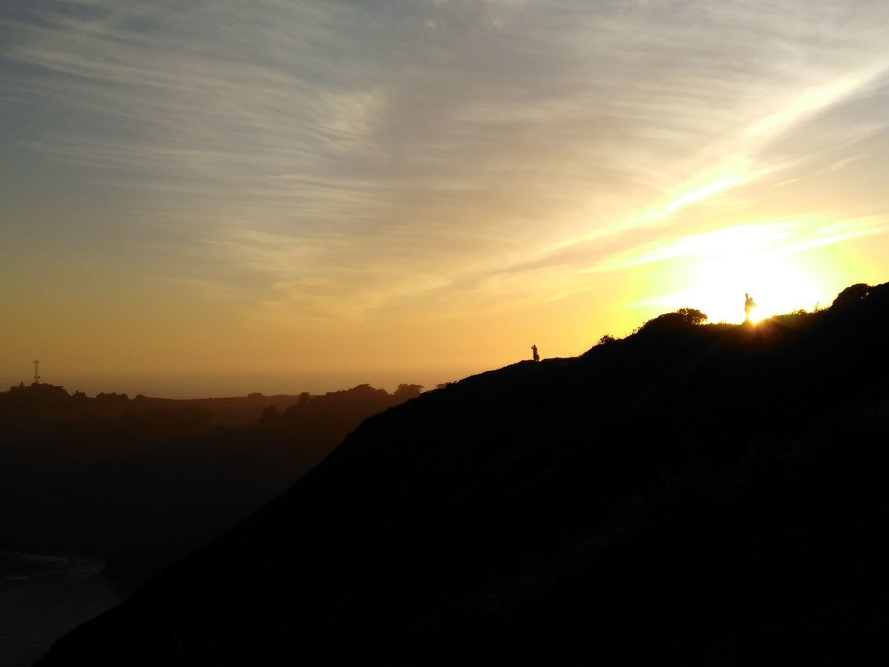 sunset, silhouette, sun, nature, sky, landscape, beauty in nature, scenics, outdoors, no people, mountain