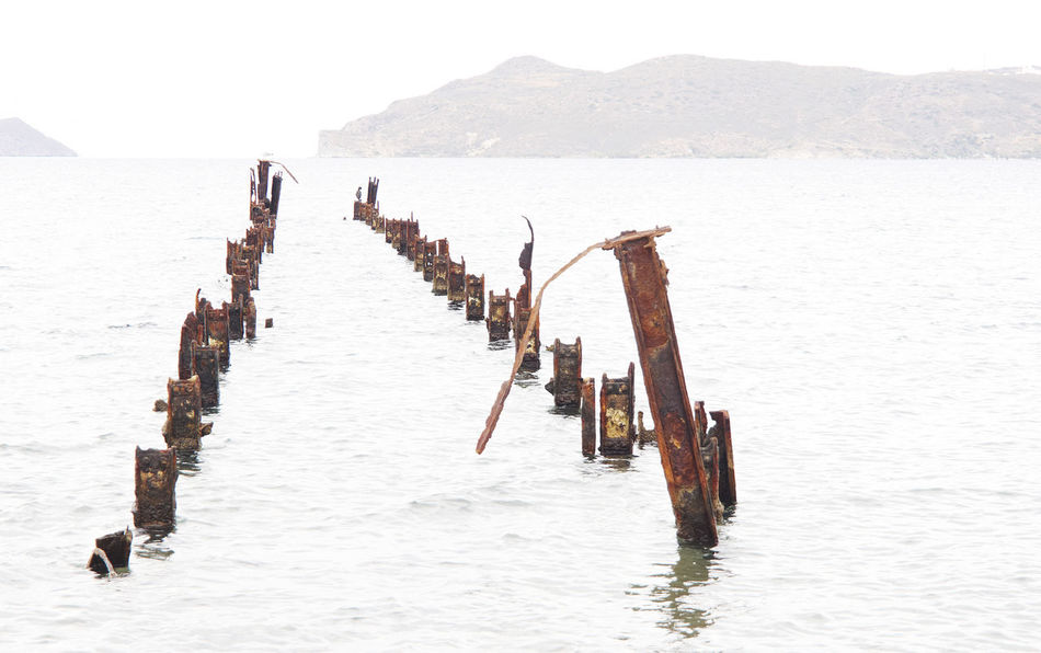 Beauty In Nature Day Lost Places Metal Nature Outdoors Pier Relict Rust Sea Water EyeEmNewHere