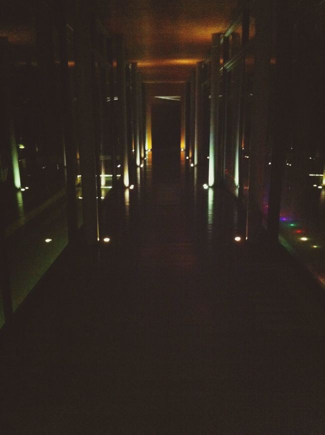 Urban Exploration Surrounded By Darkness