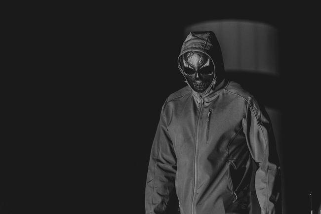 Black skull find you Black Black Background Close-up Dark Horror Illuminated Movie Scene Murder Psycho Skull Thats Me