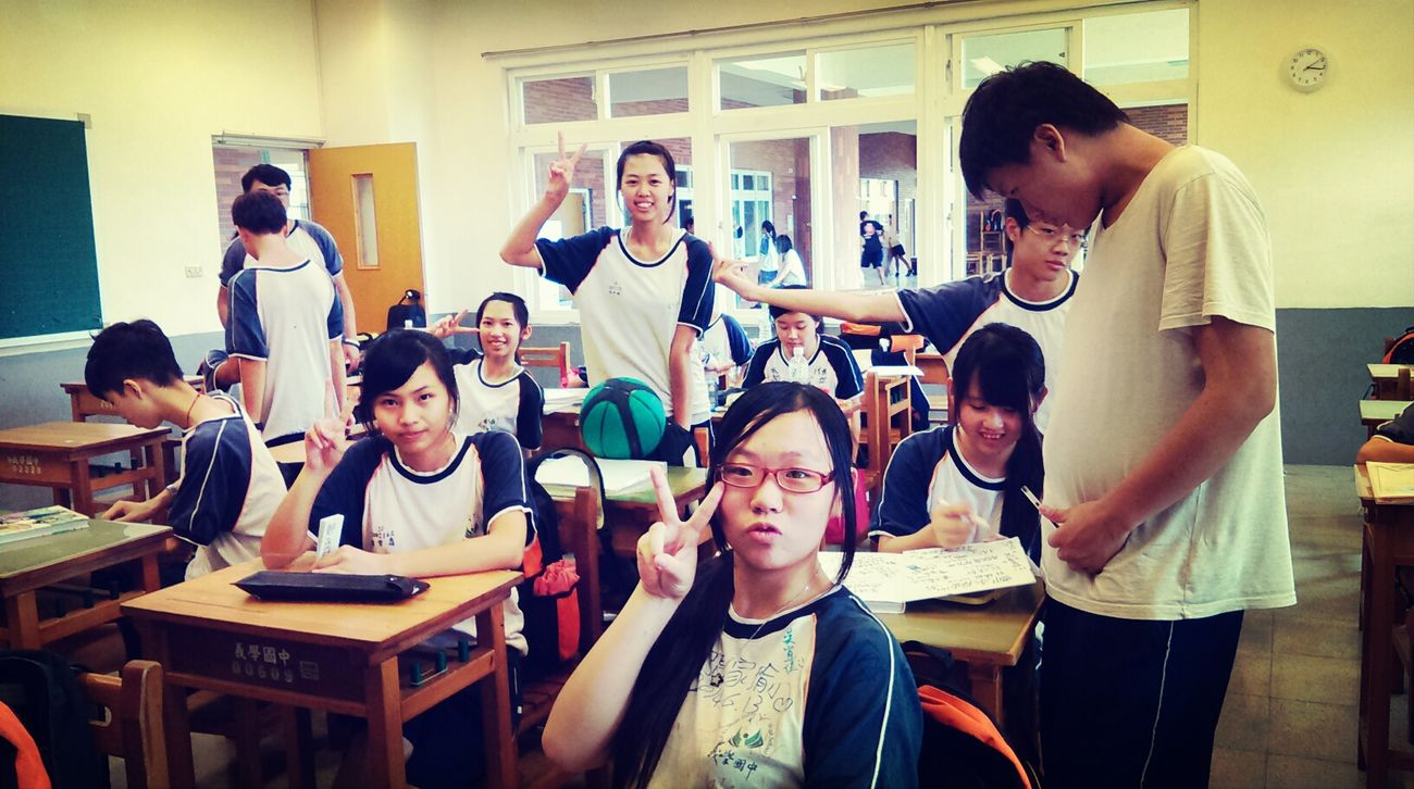 Class Taking Photos School