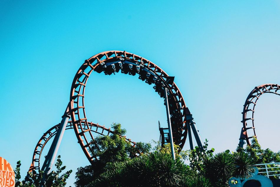 Beautiful stock photos of roller coaster, Absence, Amusement Park, Amusement Park Ride, Arts Culture And Entertainment