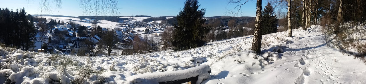 Beauty In Nature Cold Temperature Day Feldrom Horn-Bad Meinberg Landscape Mountain Nature No People Outdoors Panorama Panoramic Landscape Panoramic View Scenics Sky Snow Tree Veldrom Winter Wintertime Winterweather Winterwonderland