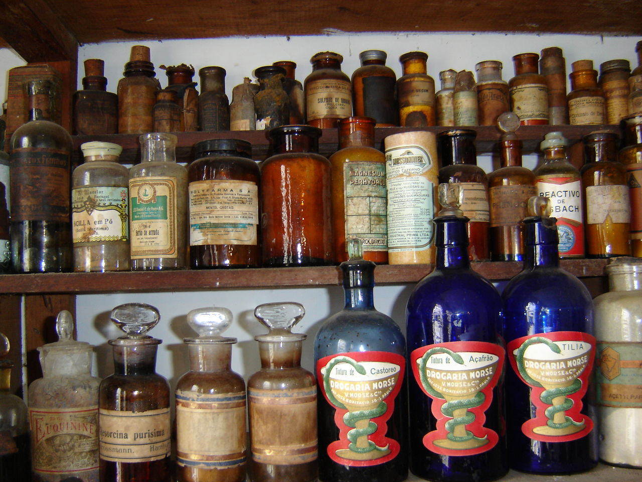 Arrangement Bottle Medicine Multi Colored No People Old Pharmacy Store