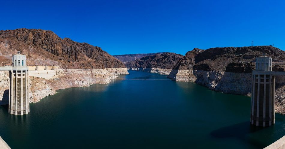 Gigapanorama USA Hoover Dam Hooverdam Sonya6000 Bigbuildings Unique Architecture Water Sunny Day Nature