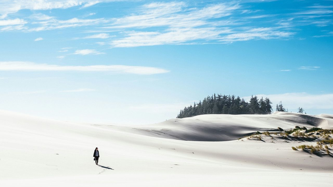 Beautiful stock photos of desert, tranquil scene, snow, cold temperature, winter