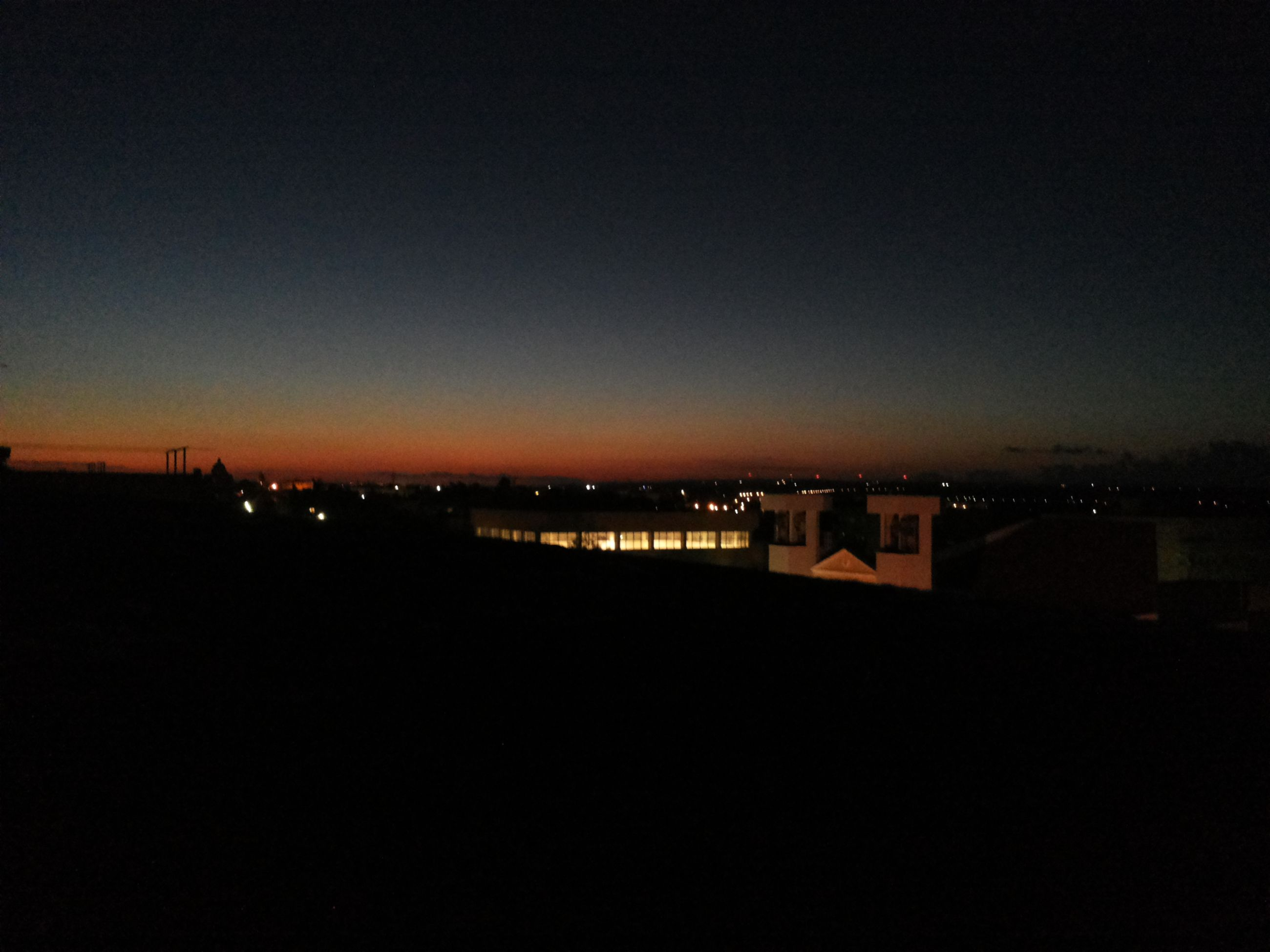 copy space, building exterior, illuminated, architecture, built structure, city, cityscape, night, clear sky, sunset, dark, silhouette, dusk, residential structure, residential building, residential district, sky, orange color, outdoors, no people