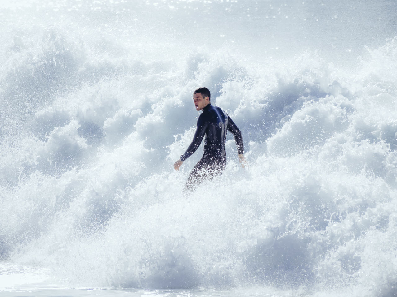 Surfer Froth Wave Wetsuit HERO White White Water Bright