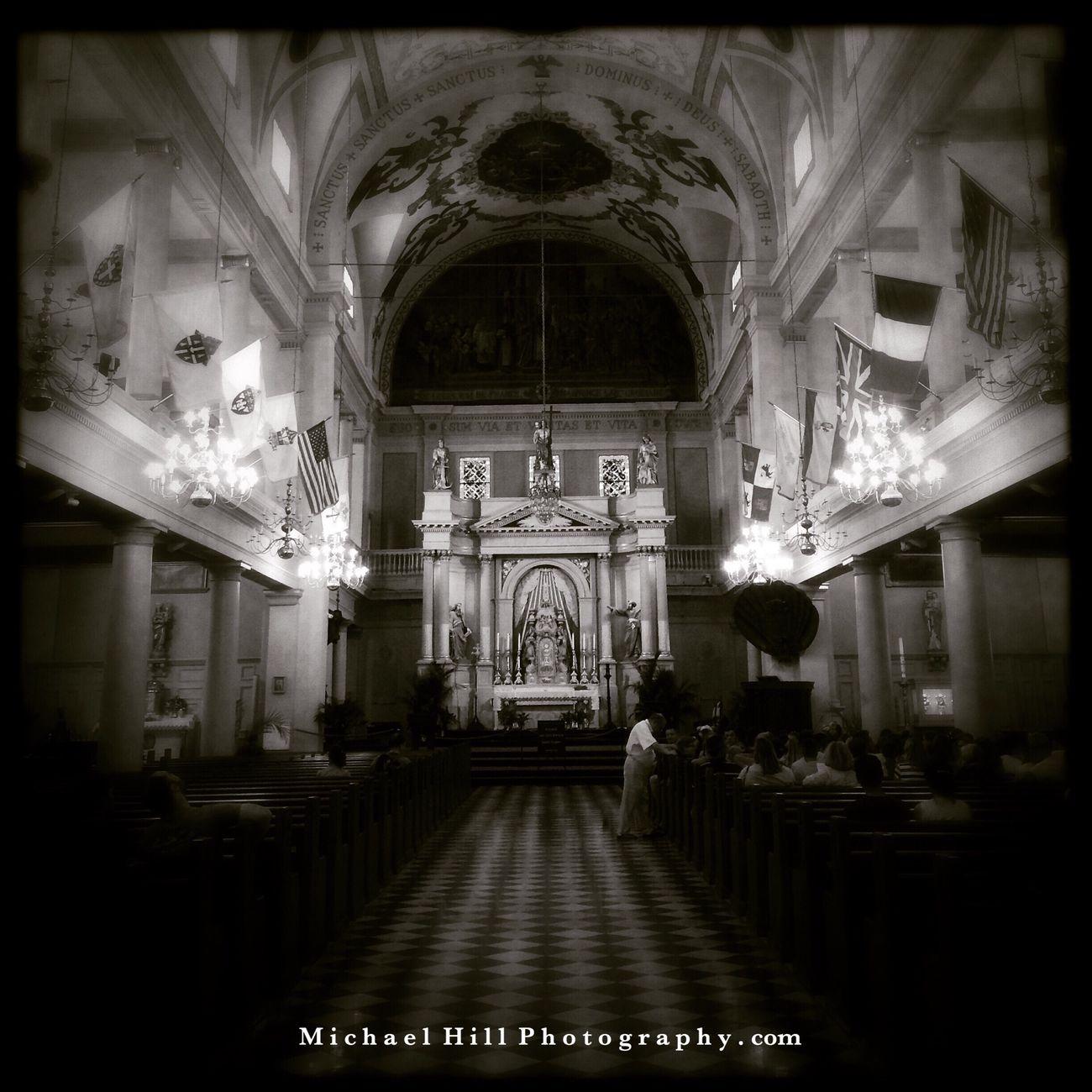 Church Lurkin' Neworleans Blackandwhite Hipstamatic Church
