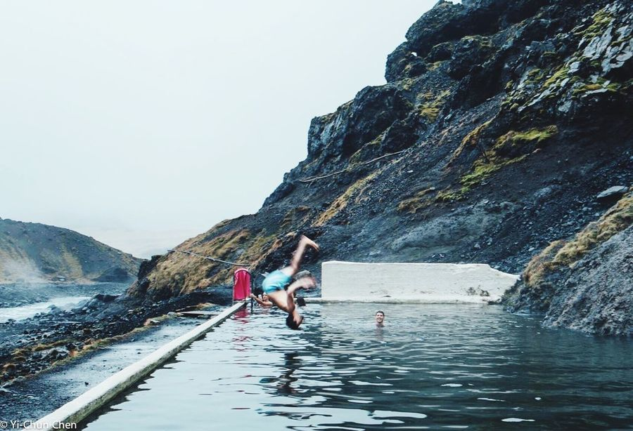 Jump Jumping Jumpshot Mountain Vacations Nature Water Lifestyles Outdoors Adventure Travel Secretspot Pool Iceland Iceland_collection Iceland Trip Iceland Memories Fun Swimmingpools Hotspring Cool Let's Go. Together. EyeEmNewHere