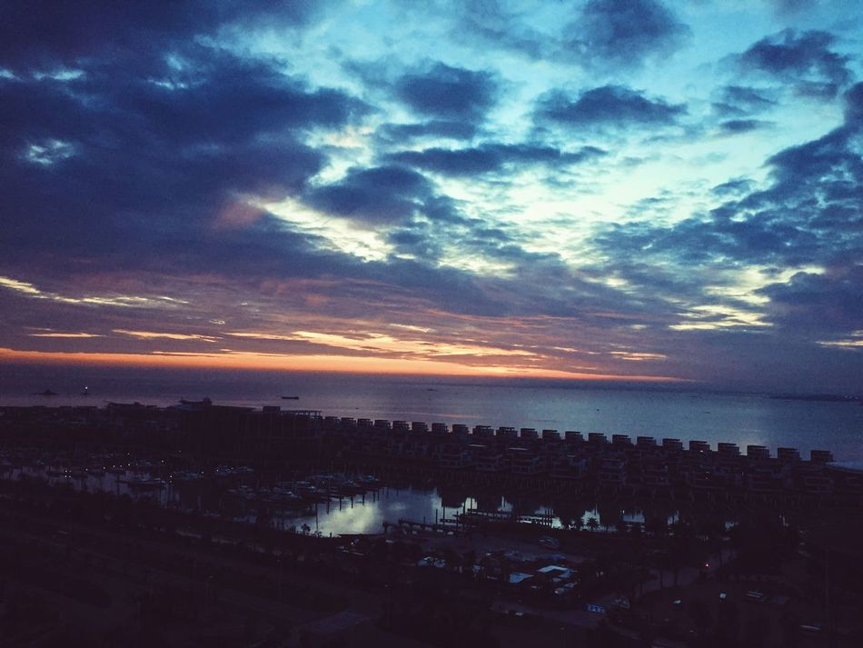 Before Sunrise Clouds And Sky Sea Blue Beauty In Nature