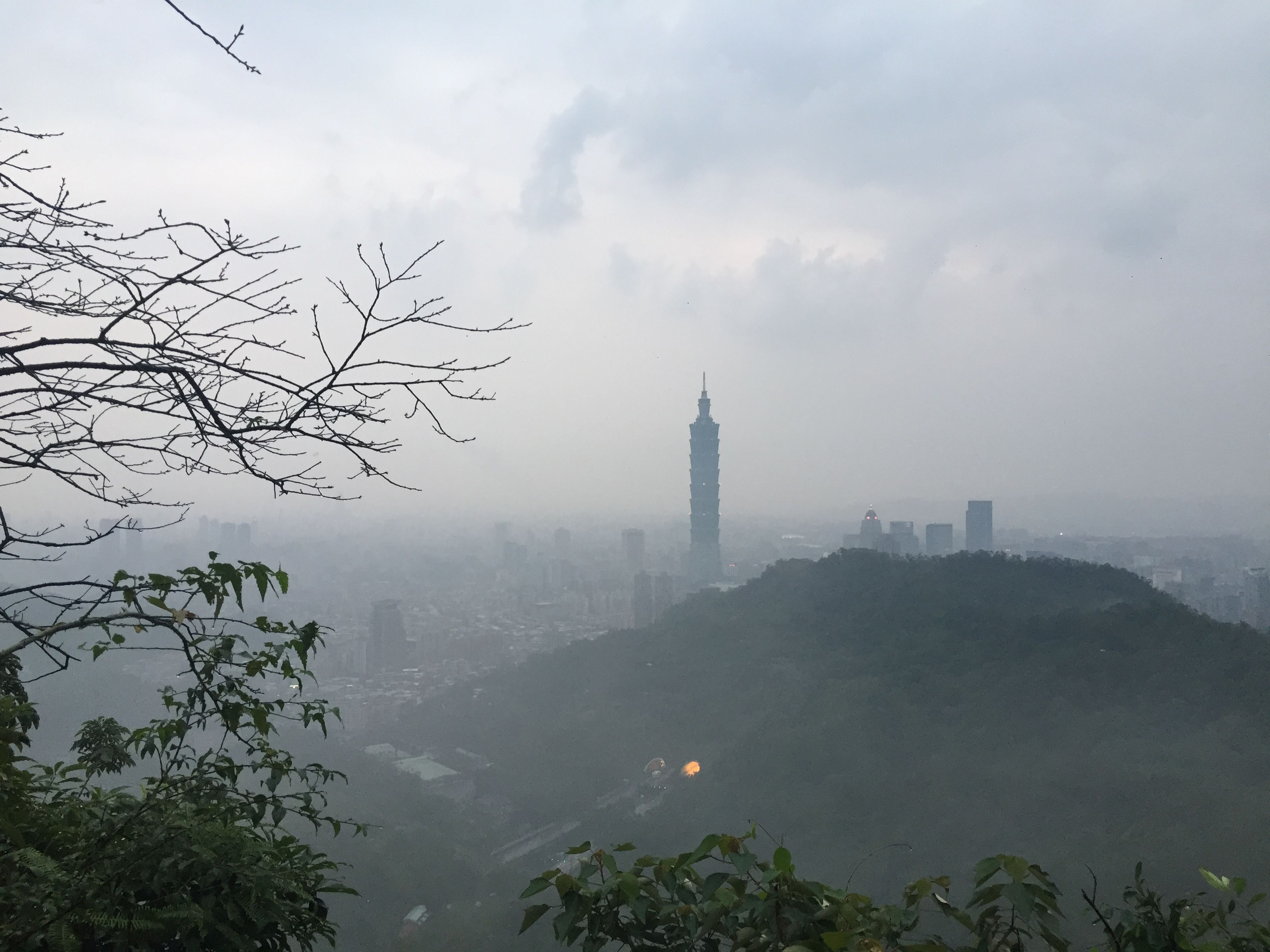 one day in the morning Taipei101