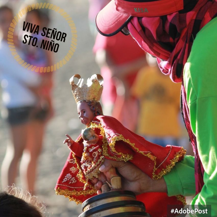 Faith Choice Cultures Fiesta Holding Pit Señor Red Religion Selective Focus Sto Nino Tradition