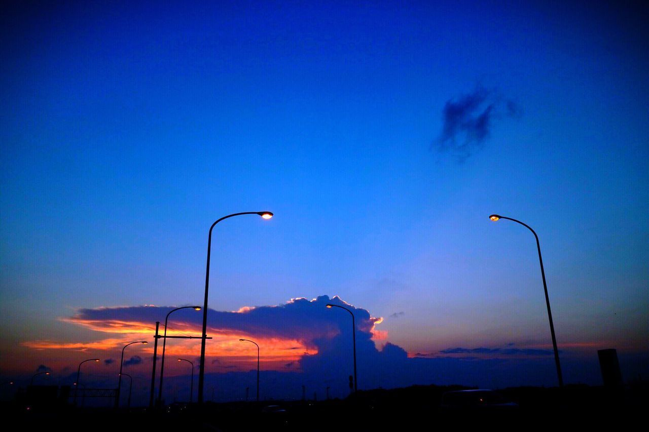 Sunset Sky Silhouette Street Light Blue No People Outdoors Nature Low Angle View Night Beauty In Nature Scenics Illuminated EyeEmNewHere