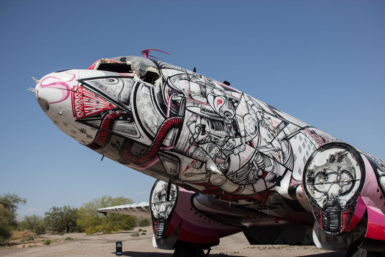 Aircraft Arizona ArtWork Engineering Exploited Flying Graffiti Mode Of Transport Museum Off Duty Old Out Of Use  Pima Air And Space Museum Plane Retired Rotten Transportation Tucson Useless