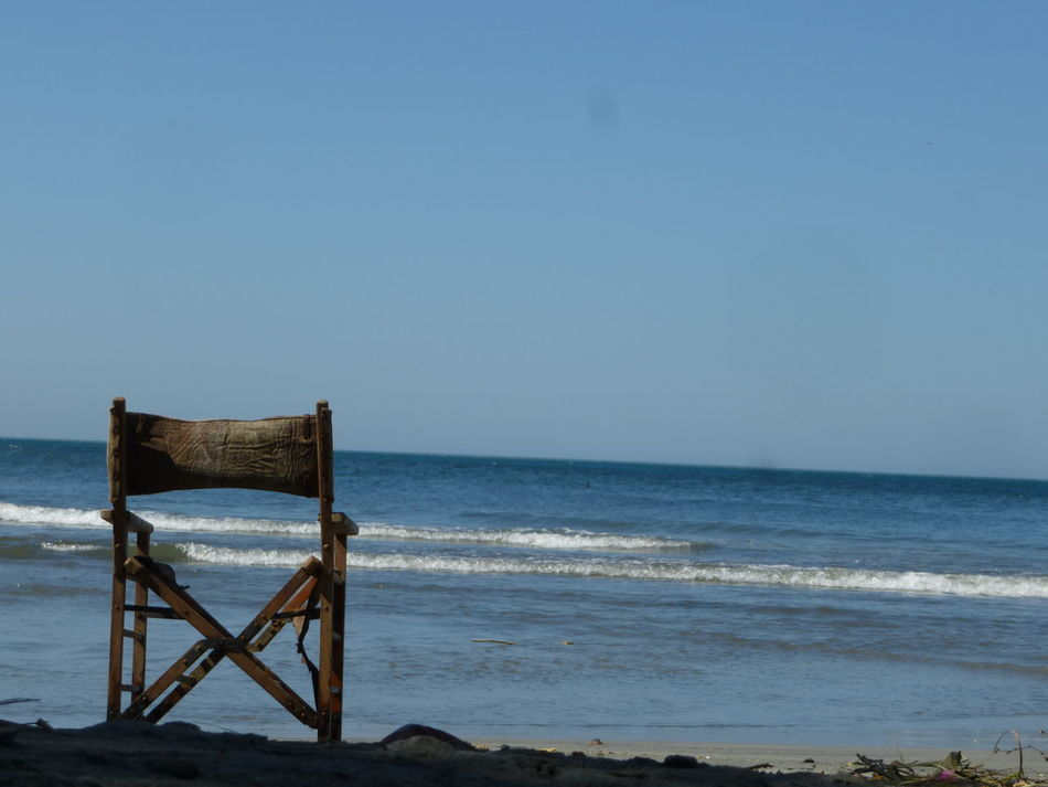 Looking for some peace in the sea Beach Chair Horizon Over Water Nature No People Peace Peaceful Peaceful View Scenics Sea Sky Tranquility Water