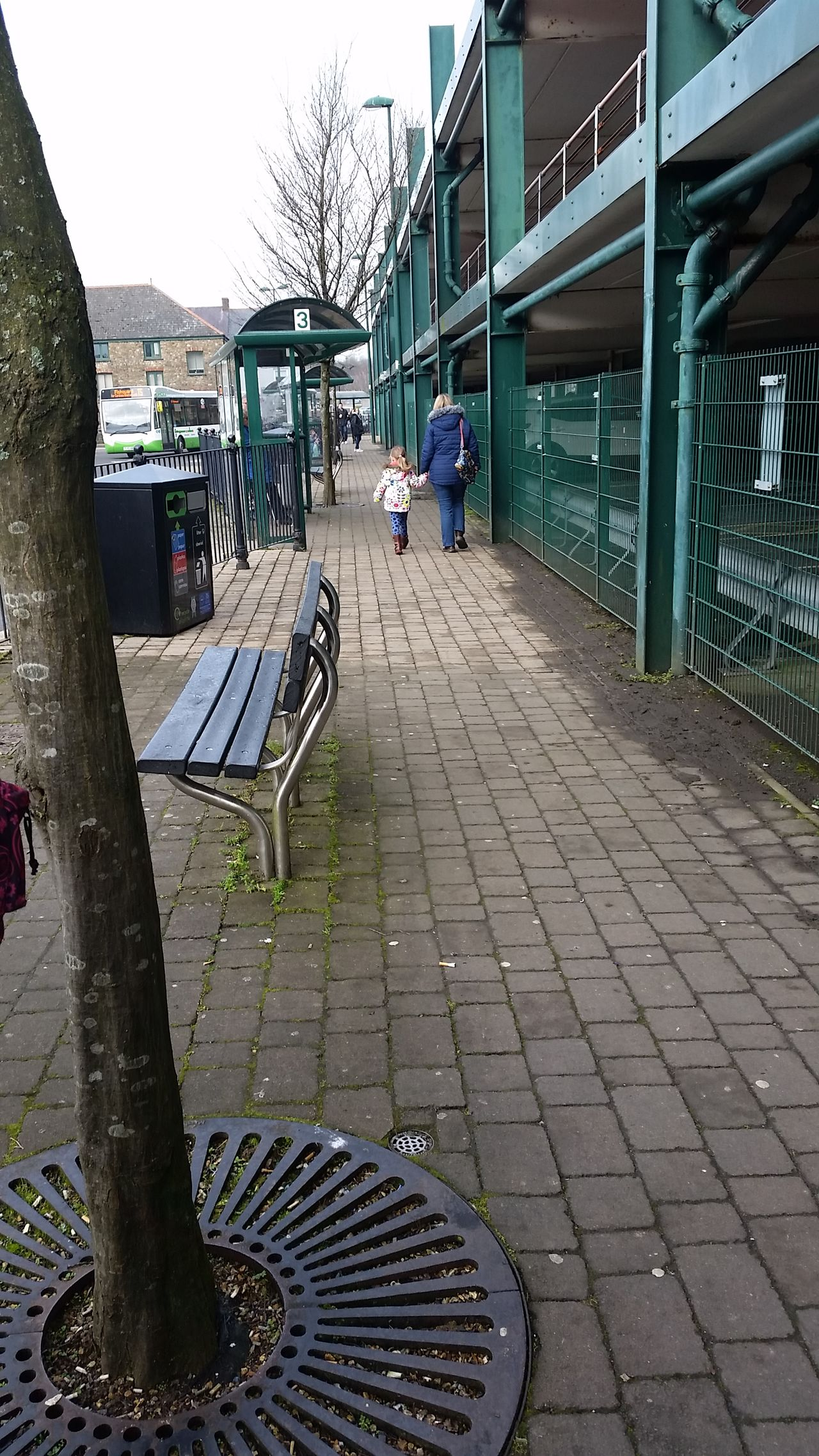 Built Structure Outdoors Real People Wales Bus Station Haverfordwest Architecture Building Exterior Cobblestone The Way Forward City Day Sky One Person People Human Body Part Adult Adults Only