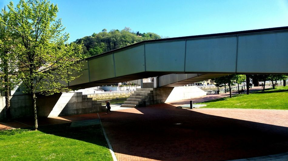 Light And Shade Contrast Of Shadows Shadow And Light Sunlight, Shades And Shadows Sunlight ☀ Sunlight And Shadows Bridges Bridge View Bilbao Nature Outdoors Architecture