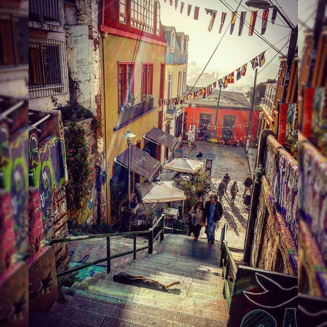 Valparaiso, Chile📍 Architecture Building Exterior Built Structure Day City Walking Around People And Places Peolpe