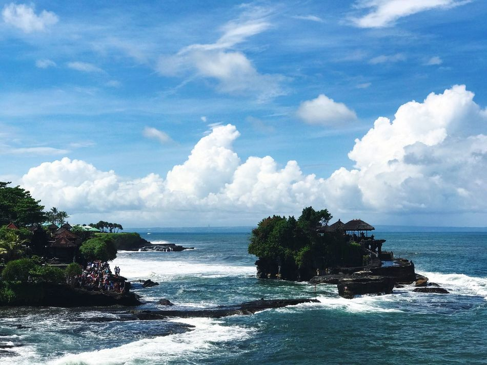 Tanah Lot, Bali Sea Sky Water Cloud - Sky Scenics Nature Beauty In Nature Beach Horizon Over Water Day Rock - Object Outdoors Coastline Tranquil Scene No People Tree Bali Bali, Indonesia Tanah Lot