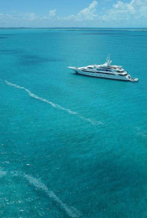Exuma yacht scene Bahamas