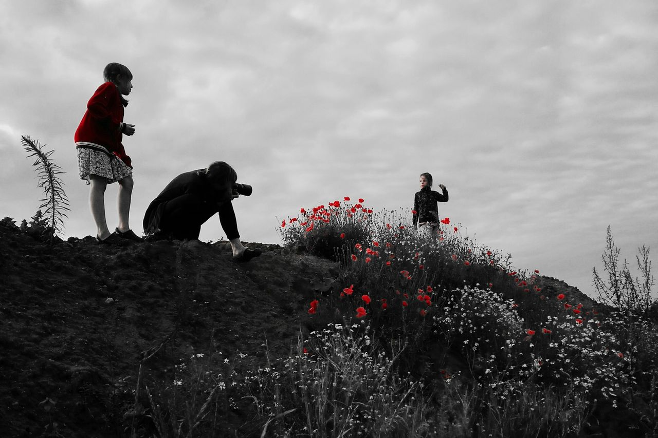 Poppy Red Model Family Black And White Flowers Photography Photoshoot POTD Adventure Club