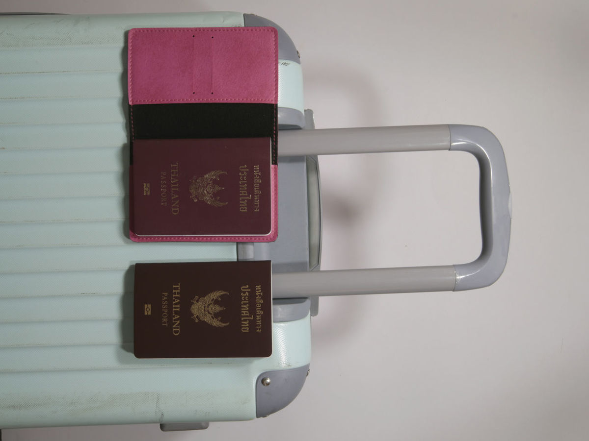 Luggage Suitcase Summer Travel Trip Baggage Background Bussiness Holiday Bag Pocket  Briefcase Passport Thailand Wheels Old