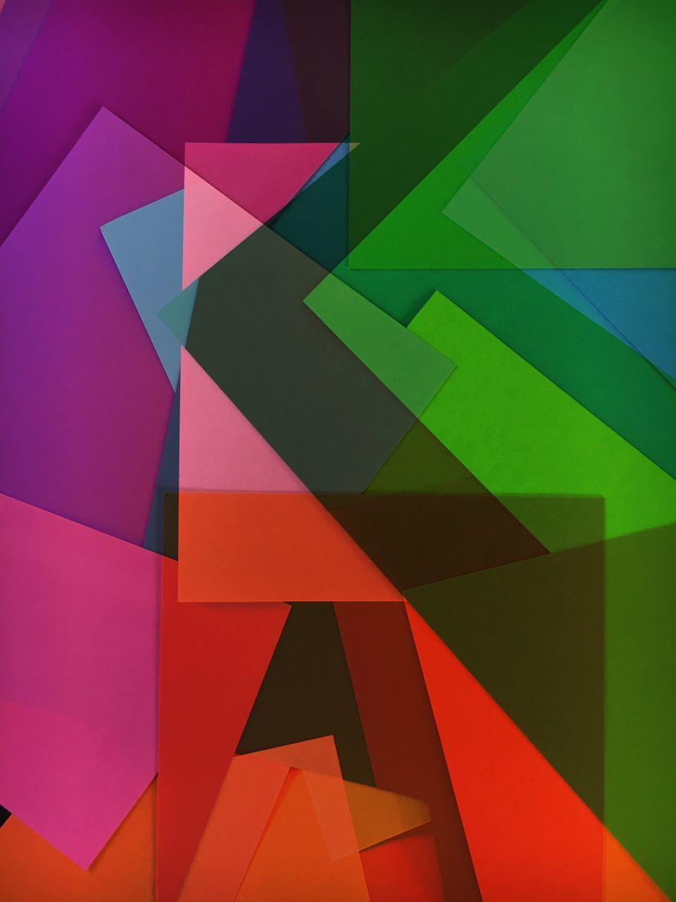 geometric shape, multi colored, backgrounds, full frame, triangle shape, shape, abstract, close-up, no people, green color, blue, architecture, day, indoors