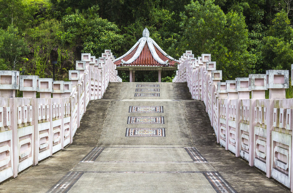 Chinese bridge and pavilion Ancent Architecture ASIA Asian  Background Bridge Building China Chinese Classic Culture Design Gazebo Landscape Pathway Pavilion Structure Terrace Tradition Travel Walkway
