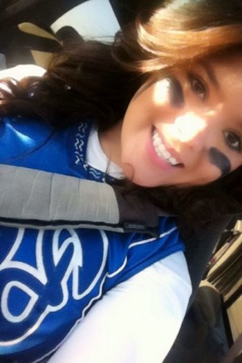 - yesterday after my game(: don't know why i like this picture so much! :b
