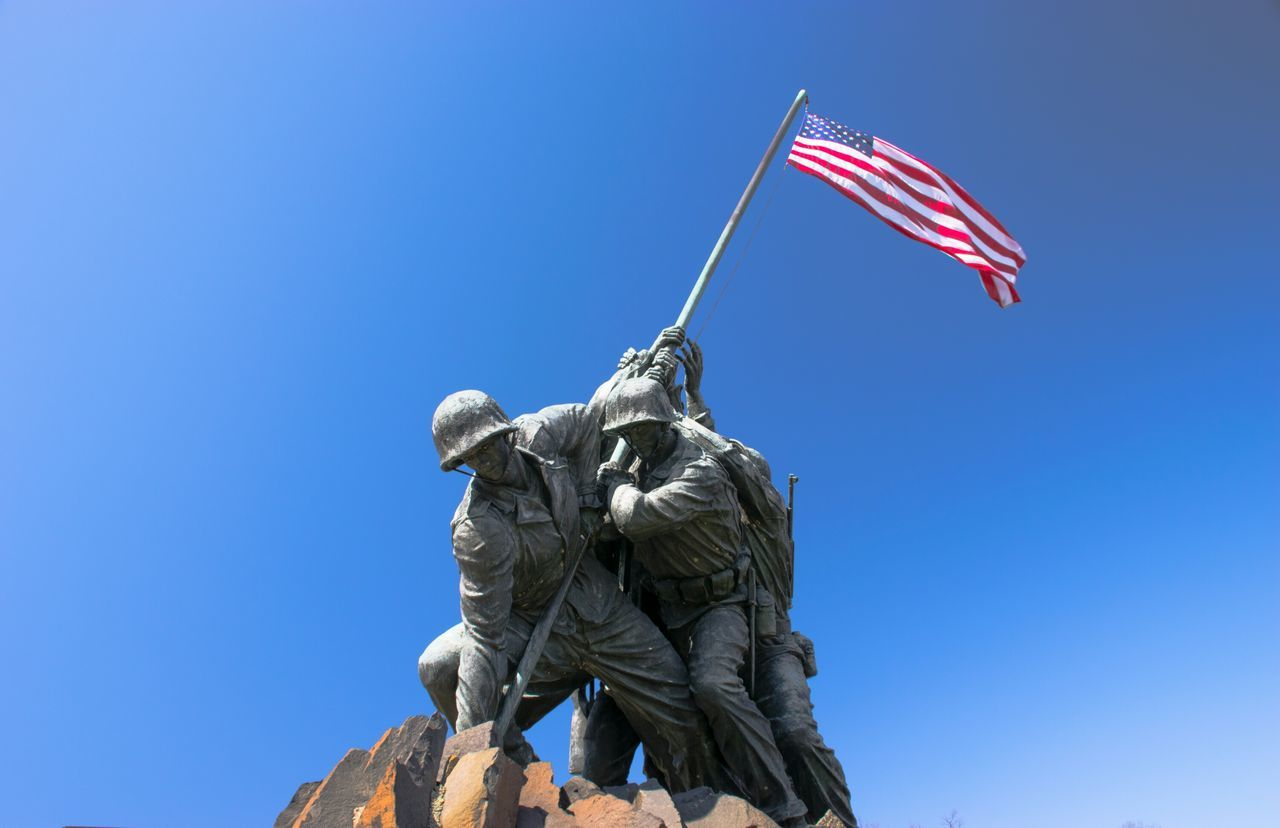Beautiful stock photos of memorial day, American Culture, American Flag, Army Soldier, Clear Sky