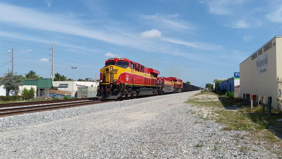 Florida East Coast Railway SB Train 109 Rail Transportation Train - Vehicle Day West Palm Beach Florida East Coast Florida East Coast Railway