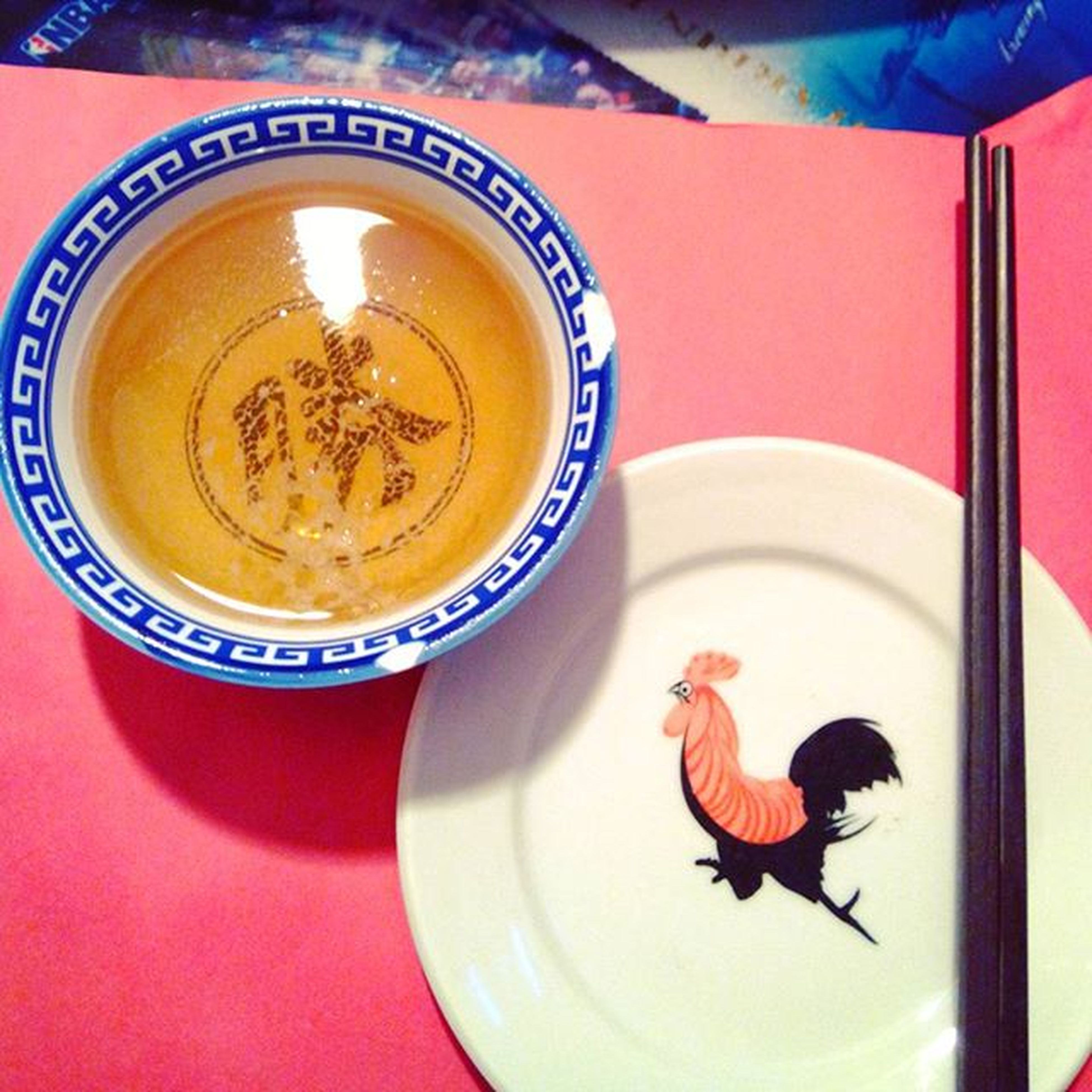 Beer Rooster Yanjing or Tsingtao Bowl Chopsticks Traditional Chinese 飲勝