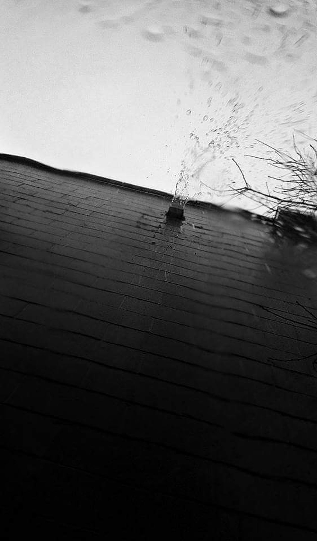 Water Black And White Rain Drops Outdoors Random Acts Of Photography Drainpipe Man Made Object Winter Rainy Days Enjoying Life No People Cloud - Sky In The Moments Sky