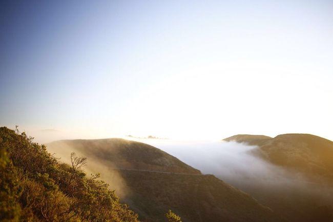 Fog at the hills behind the GoldenGateBridge SanFranciscoBay Sanfrancisco Fog Sunrise First Eyeem Photo